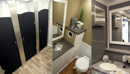 Portable Toilets Mobile Restroom Trailers Crown Restrooms